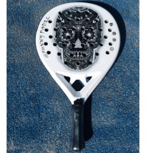 black-skull-II-pala-padel-calverafunnypadel