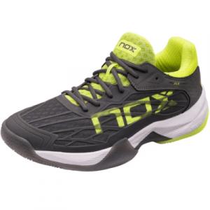 Zapatillas-de-padel-AT10-LUX-Gris-Amarillo-Fluor-nox